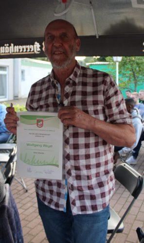Wolfgang Weyel 25 Jahre Mitglied TSV Godshorn
