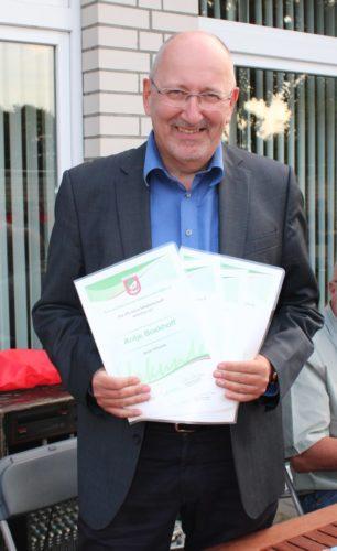 Antje, Frauke, Reinhilde und Hannes Boekhoff 25 Jahre TSV Mitglied
