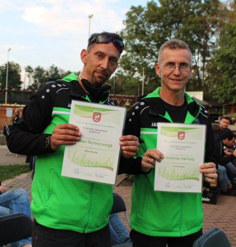 Fabian Schleenvoigt und Andreas Härtwig zehn Jahre Jugendtrainer