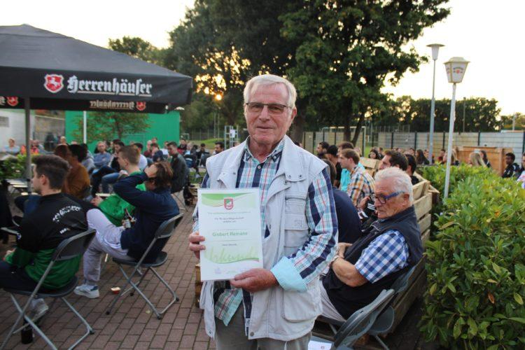 Gisbert Remane 70 Jahre TSV Mitglied