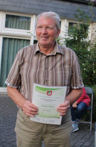 Dieter Bod 60 Jahre TSV Mitglied