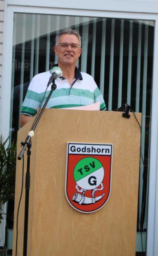 TSV-Vorsitzender Ulf Theusner beim Rechenschaftsbericht des Vorstands